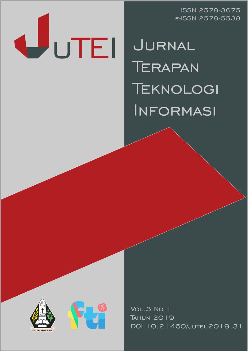 View Vol. 3 No. 1 (2019): Jurnal Terapan Teknologi Informasi