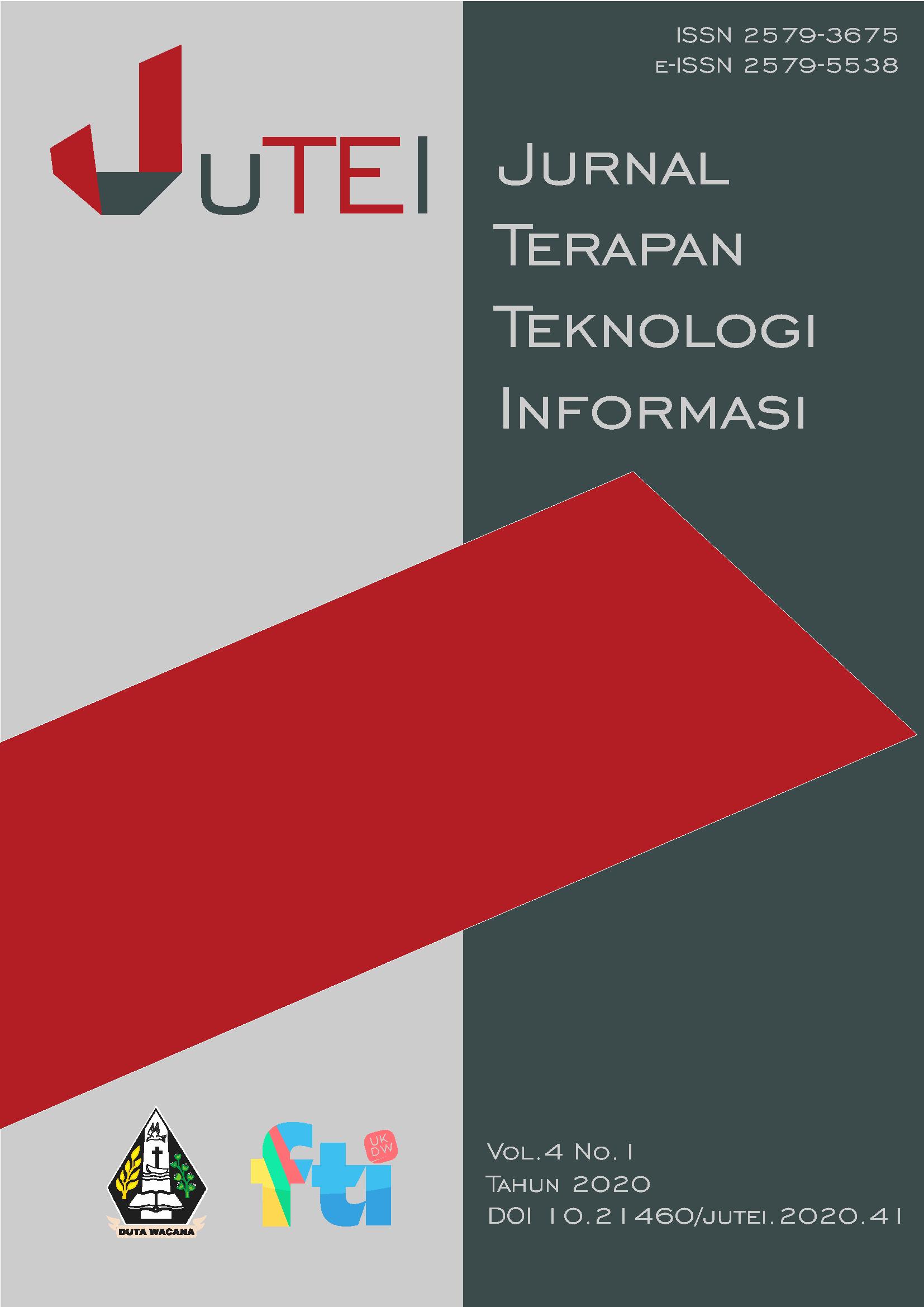 View Vol. 4 No. 1 (2020): Jurnal Terapan Teknologi Informasi